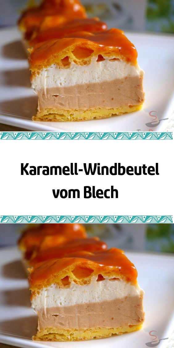 Karamell-Windbeutel vom Blech