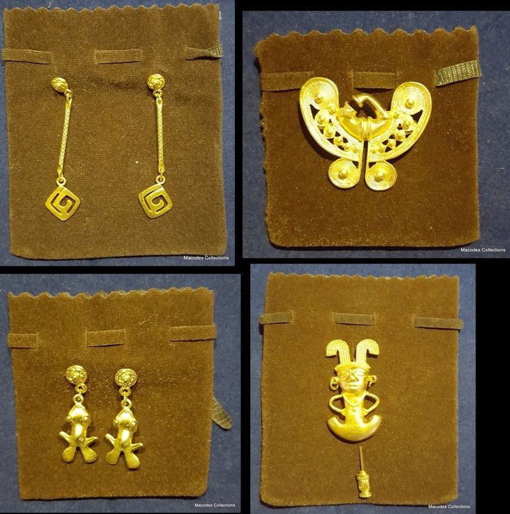 Beautiful Pre-Columbian Jewelry Lot of (4), made in alloying with no iron