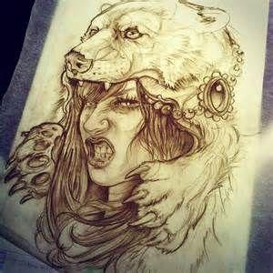 Girl with Bear Headdress Tattoo - Bing Images