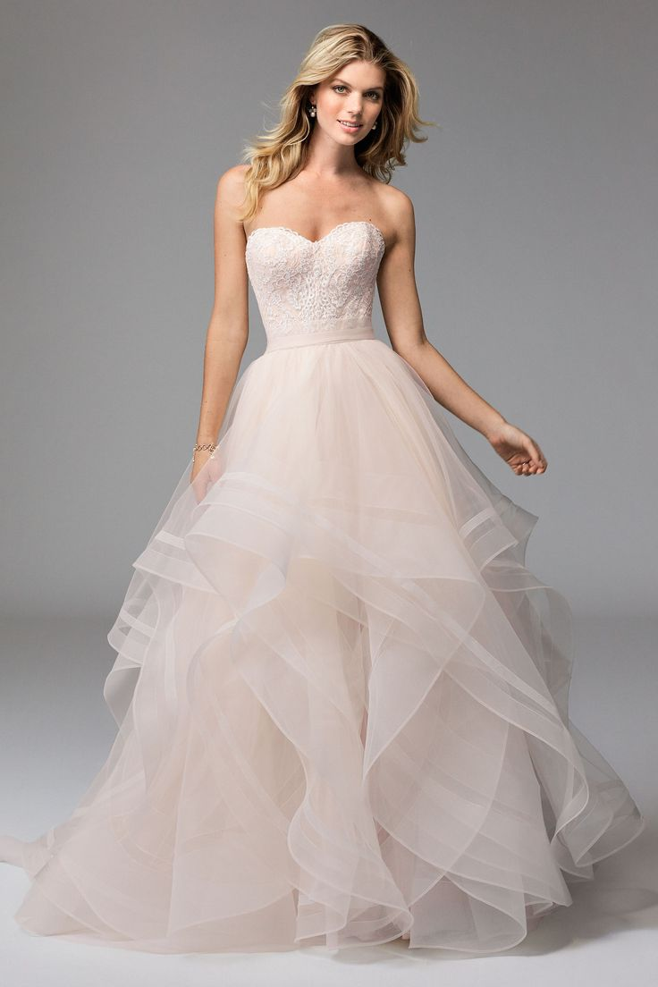 @watterswtoo Wtoo Style 17118 Lula Corset & Effie Skirt Blush Bridal Separates.