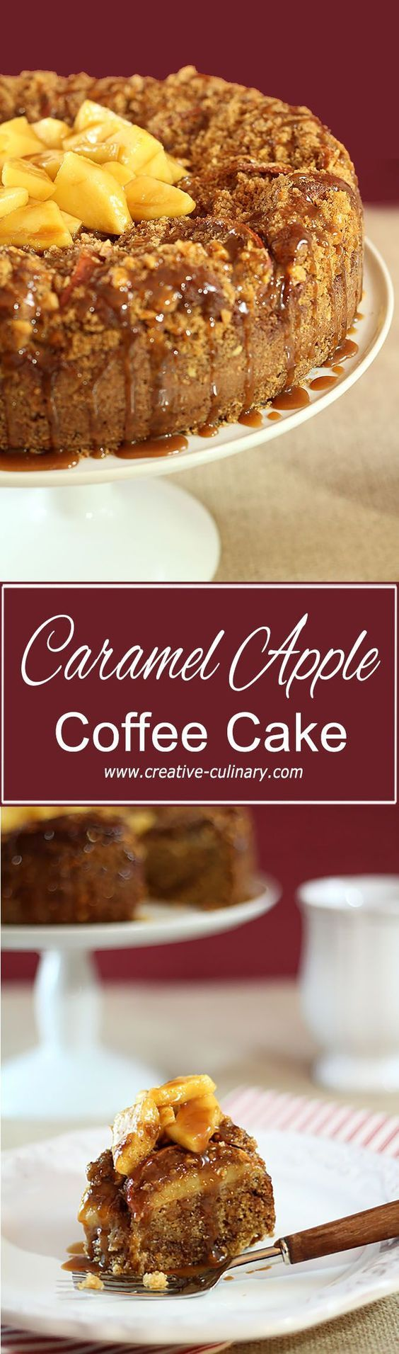 Caramel Apple and Walnut Streusel Coffee Cake from @creativculinary