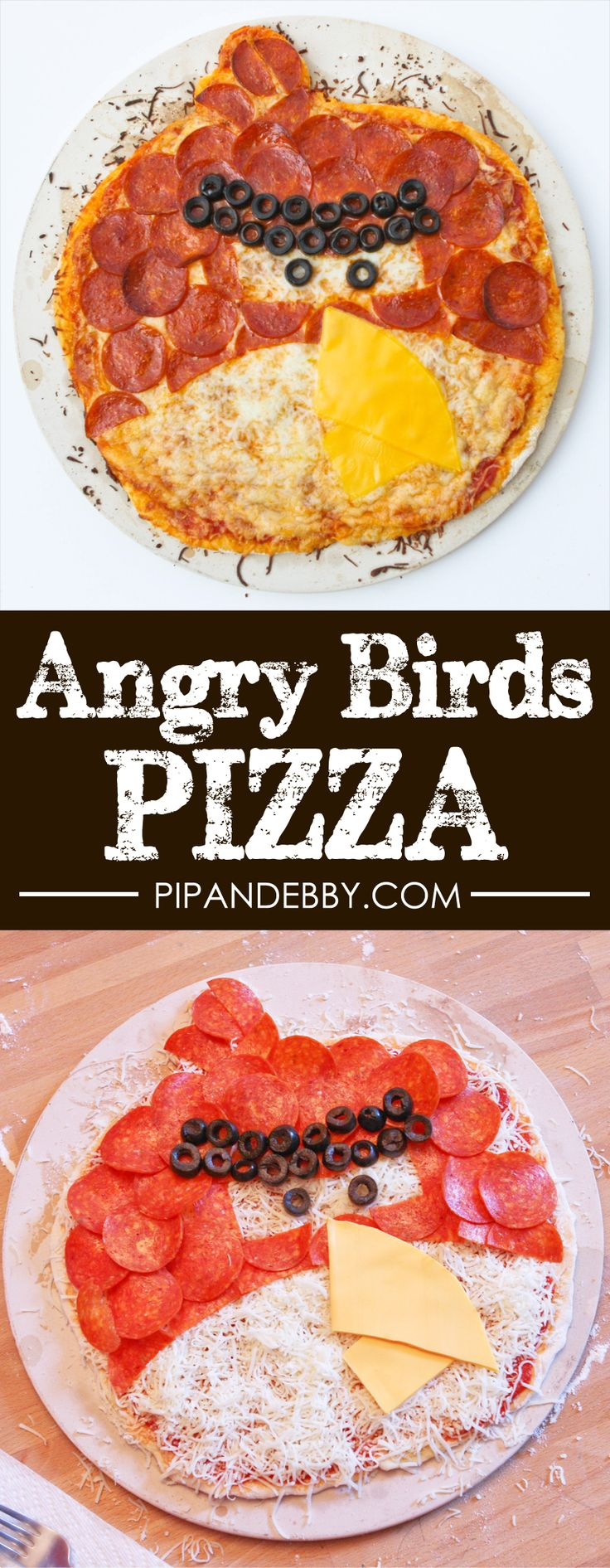 Angry Birds Pizza | Turn an Angry Bird into a pizza that kids are gonna love!