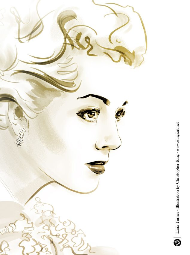 Screen Icons - 12 Portraits of Hollywood Goddesses by Christopher King - Freelance Illustrator and Graphic Designer   Christopher King