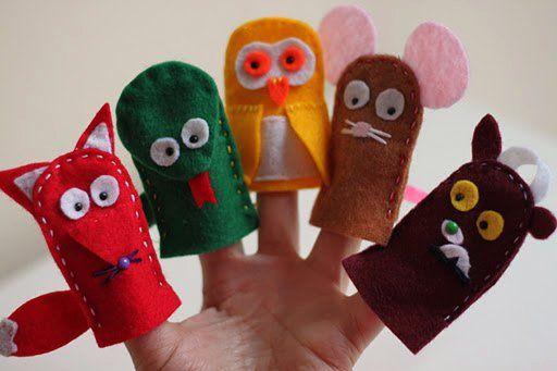 Gruffalo character felt finger puppets!