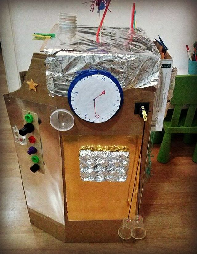 Resultado de imagen para como hacer una maquina del tiempo de carton