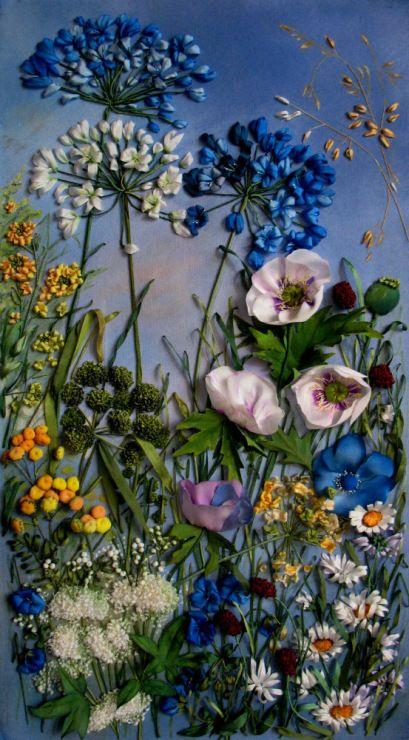 Gallery.ru / Фото #7 - Цветочные поляны - miradiana   Love the painted background
