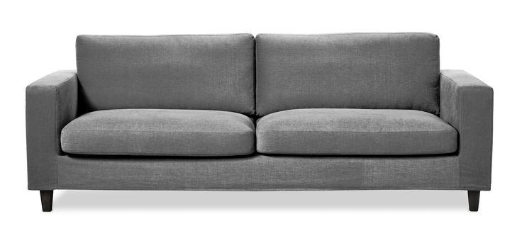 Clean 3-sits soffa med avtagbar och klädsel från Mio.