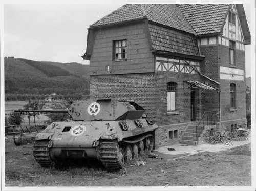 """""""Panther"""", depicting an American tank, part of the 150th tank brigade of Otto Skorzeny. The Ardennes, December 1944"""