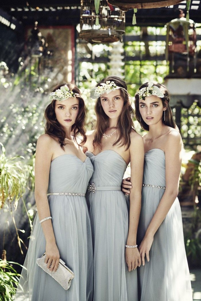 2016 Bridesmaid Dress Trends from @davidsbridal: Pastel and soft-colored dresses are the perfect choice for spring and summer weddings!