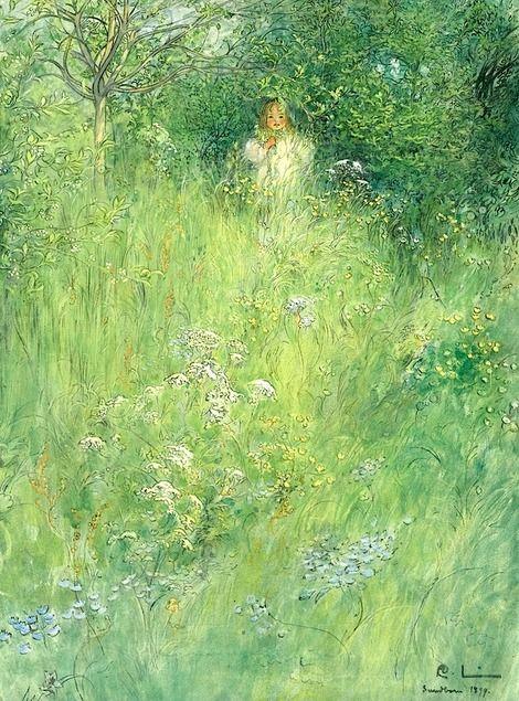Carl Larsson, A Fairy (Kersti In The Meadow)