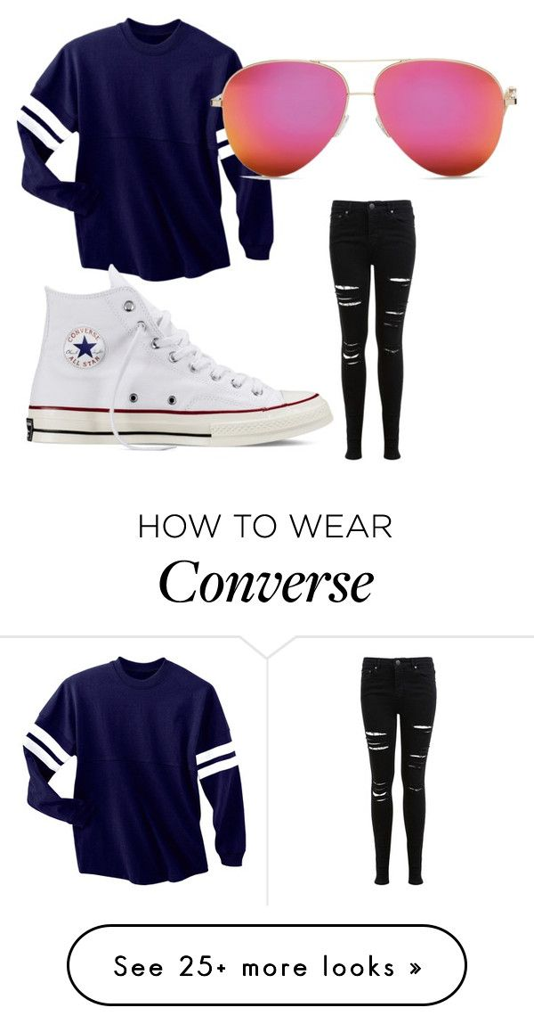 """""""Untitled #1"""" by avawilliamssss on Polyvore featuring Miss Selfridge and Converse"""
