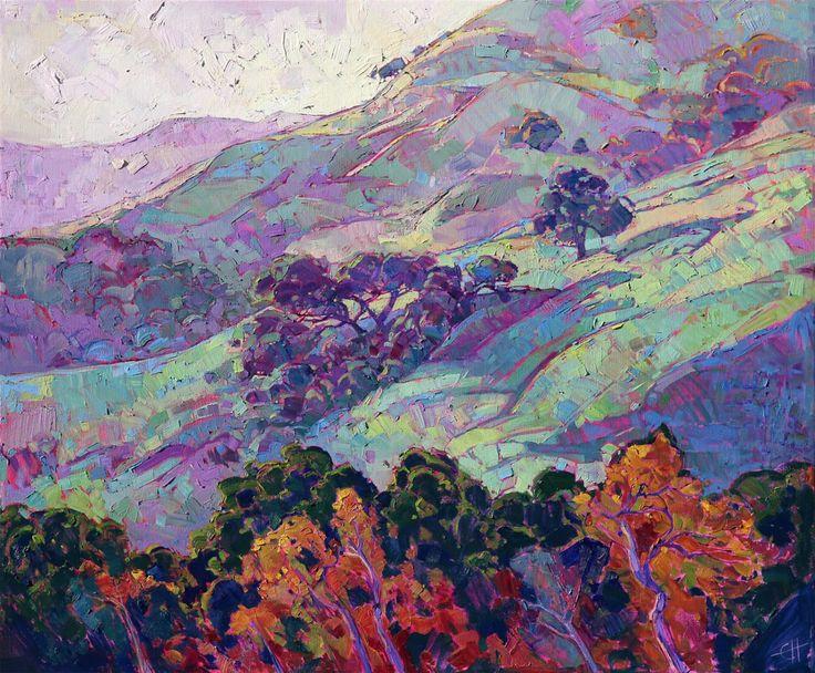 Modern Landscape Impressionism | California wine country oil painting by modern impressionist artist Erin Hanson