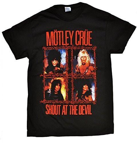 Motley Crue Shout At The Devil - Barbed Wire Men's T-Shirt, Black