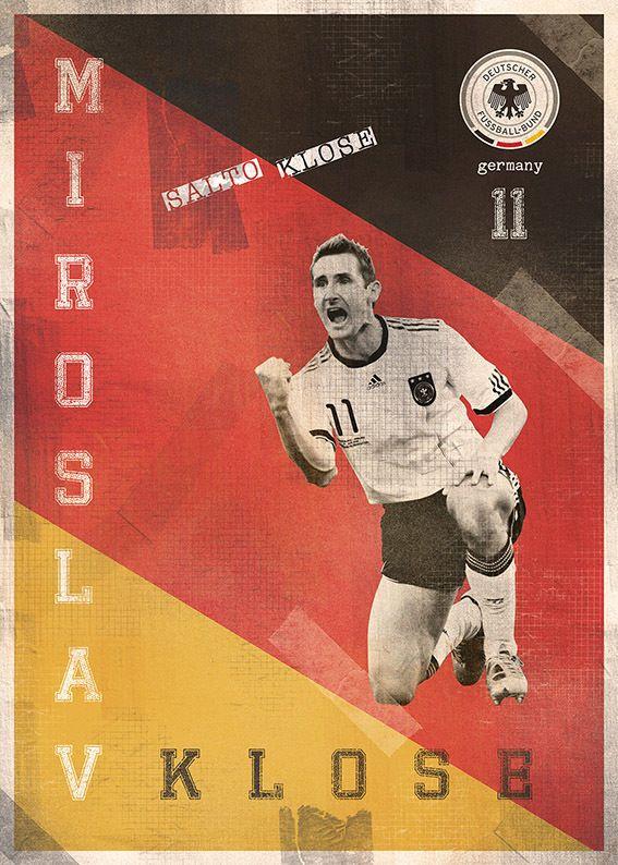 The Gods Of Football (Part I) by Marija Marković on Behance — Miroslav Kloss, #11, Germany