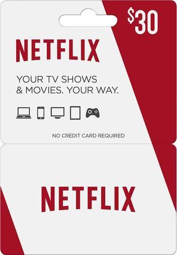 $30 Netflix Gift Card                                                                                                                                                                                 More
