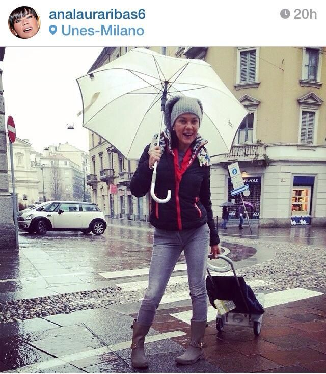 La bellissima Ana Laura Ribas indossa i Rainboot Colors of California