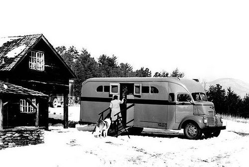 1948 GMC COE Horse Transport Van | Picture found on the inte… | Flickr
