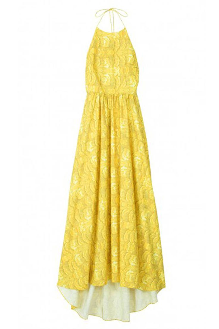 Tibi light blue long dress
