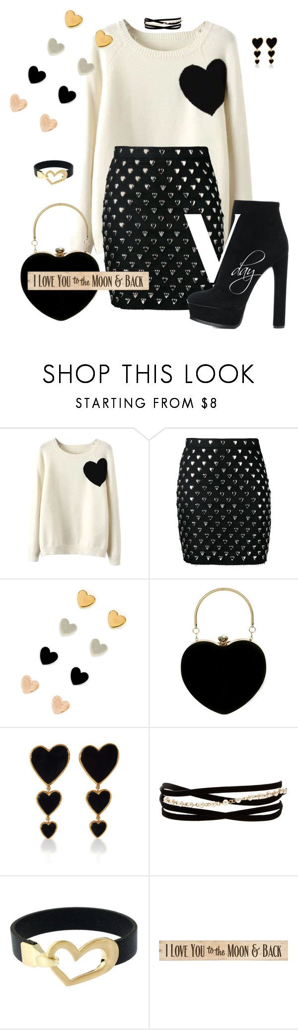 """""""vday"""" by traceyenorton ❤ liked on Polyvore featuring WithChic, Yves Saint Laurent, Edie Parker, Kenneth Jay Lane, DutchCrafters and Casadei"""