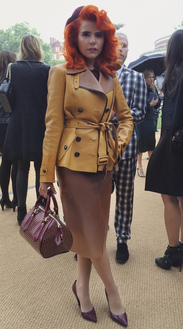 British musician Paloma Faith wearing Burberry as she arrives for the Prorsum Womenswear S/S14 show London - shot with #iPhone5s #LFW