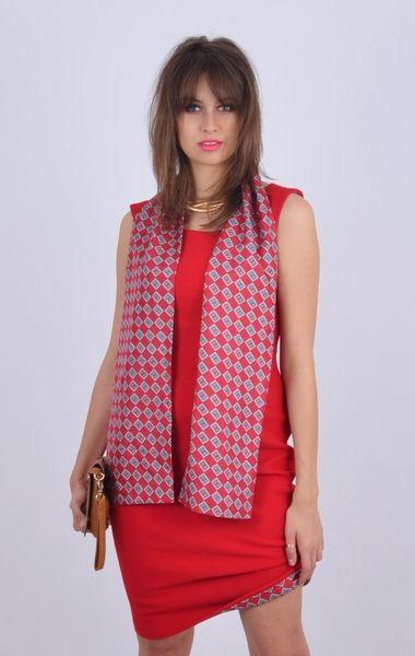Czerwona wełniana Princeska w NAT Fashion Room na DaWanda.com