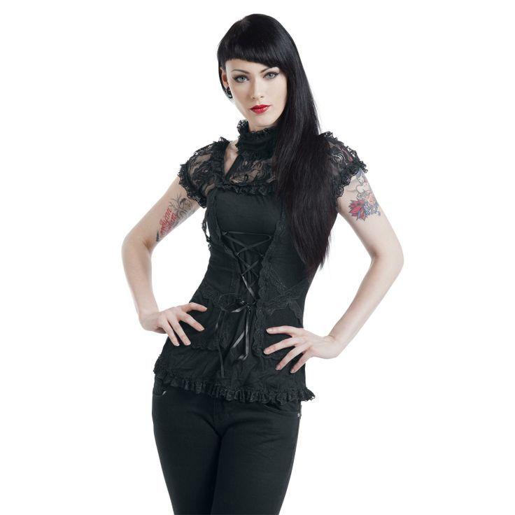 Corsage Look - Camiseta Mujer por Gothicana -  Ropa gotica      clothing en