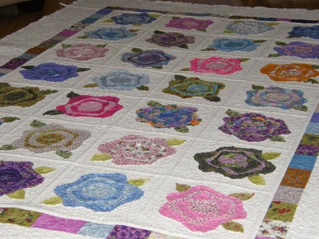 151 Best French Rose Quilts Images On Pinterest Quilt Block