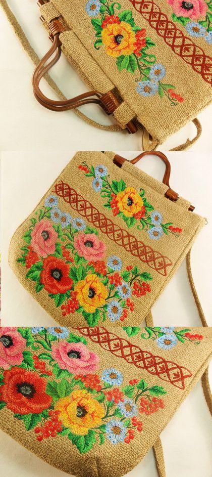 Burlap Sling Bag Custom Embroidered Jute bag Burlap Bag and Embroidered Burlap Tote Bag With Vegetable Embroidery
