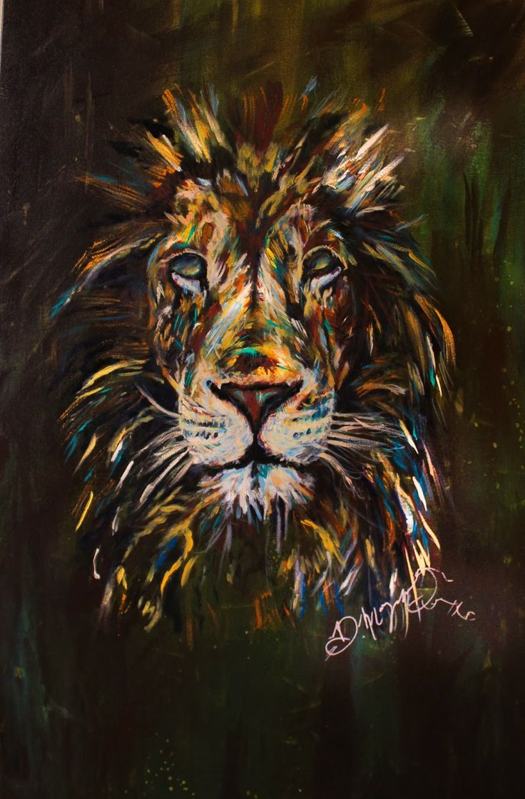 Dona Morgan : Soul of a lion, 16x24 canvas, Acrylic paint ...