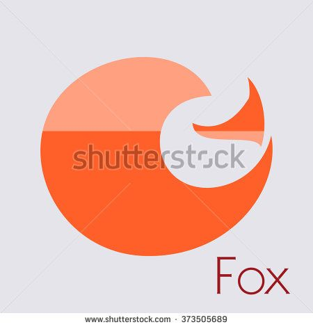 Fox icon - vector illustration. Red Fox Logo - stock vector