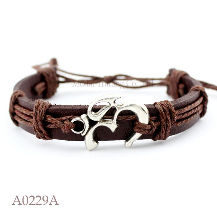 (10PCS/lot) ANTIQUE SILVER YOGI YOGA OM OHM CHARM Adjustable Leather Cuff Bracelet for Men & Women Friendship Casual Jewelry