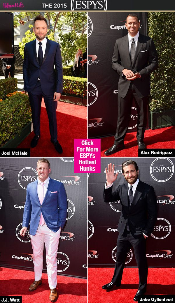 It's Christmas in July! These guys were as hot as the summer sun at the ESPY Awards on July 15. They had us glued to the red carpet, and looked sharp in suits and jackets — check out our pics for the hottest hunks of the night and their outfits!