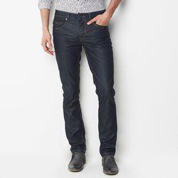 Jeans straight revestidos, comprimento 34 R essentiel