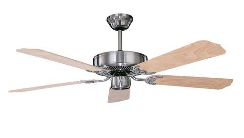 Calli 42 Inch 5 Blade Stainless Steel Ceiling Fan - +42CH5ST
