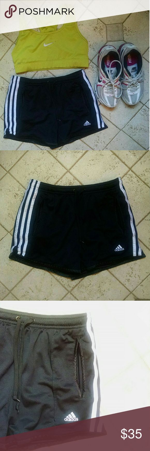 Adidas Soccer shorts women's Worn maybe twice. In perfect condition. No signs of wear. Lined pockets. Very comfortable. Purchased at the end of indoor season and just have too many pairs. adidas Shorts