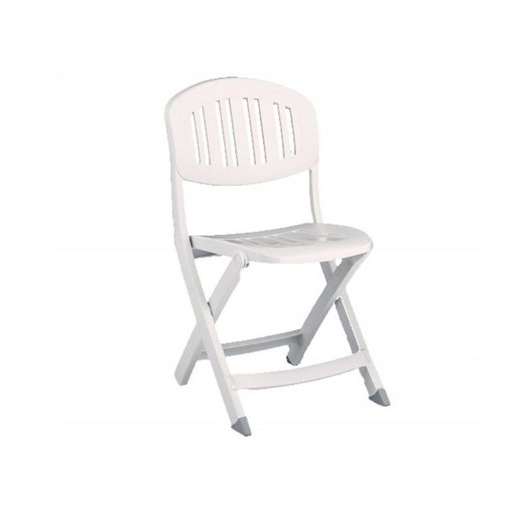 White Plastic Folding Garden Chairs