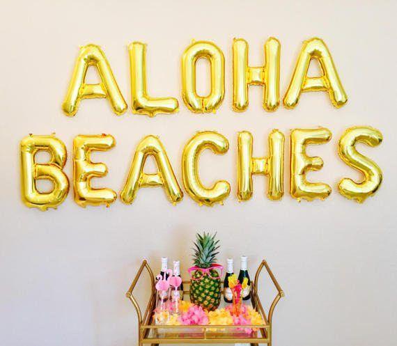 ALOHA BEACHES Balloons Aloha Party Aloha Theme Aloha Aloha