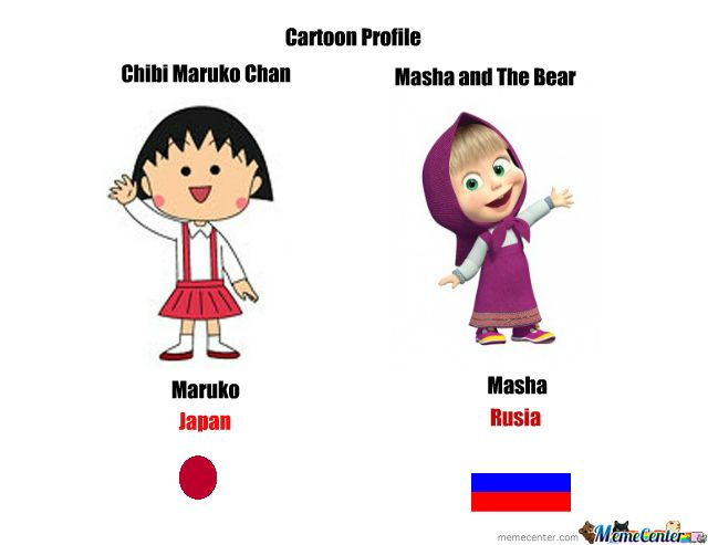 Masha and the bear, The bear and Chibi on Pinterest