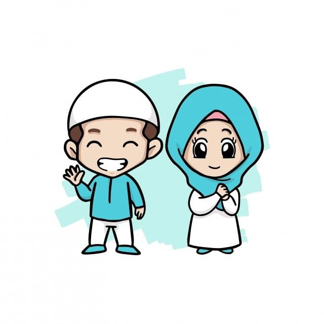 A Happy Couple Muslim Kids Man Clipart Illustration Man Png And Vector With Transparent Background For Free Download Muslim Kids Kids Vector Cartoon