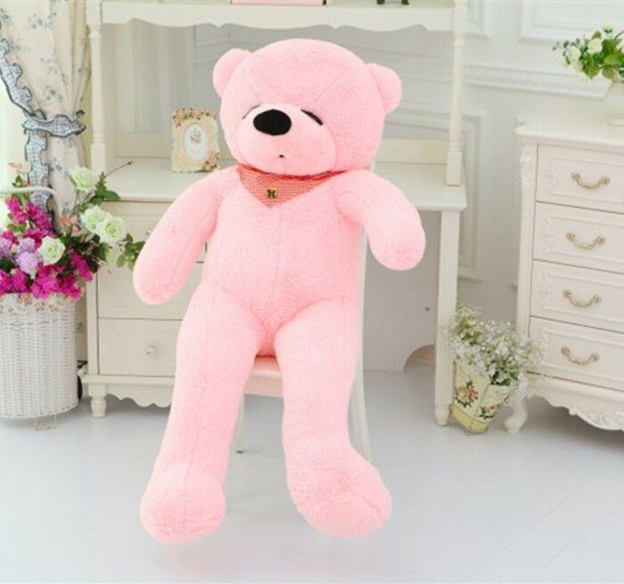 47in Giant Pink Plush Sleepy Ted Bear Huge Soft 100 Pp Cotton Toys Gift 120cm Ebay Ted Bear Toys Gift Plush