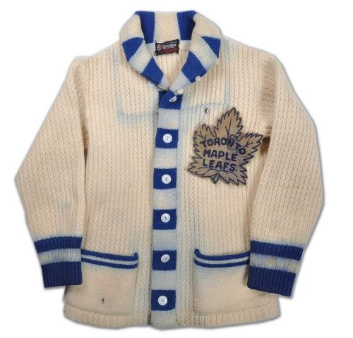 2f1dddcbc55 Former Leafs' captain Ted Kennedy's 1940s Toronto Maple Leafs Wool Cardigan  - It reminds me of