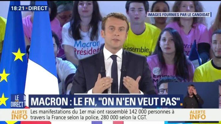 """Macron: """"Monsieur Le Pen, j'ai des enfants et des petits-enfants de cœur"""""""