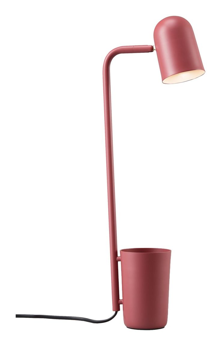 Buddy Design by Mads Sætter-Lassen 2016. As Buddy organises small items, it helps surfaces remain uncluttered and keeps important objects within reach. The multi-directional shade enables the beam to be directed towards the area where light is needed. Available in matt finishes of dark grey, off-white, green and Marsala.