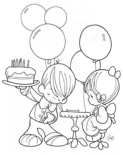 Precious Moments Coloring Pages - Bing Images. The little boy brings a special gift to her. It's not much but I did it with all my Love for you. Your wish is my command my love
