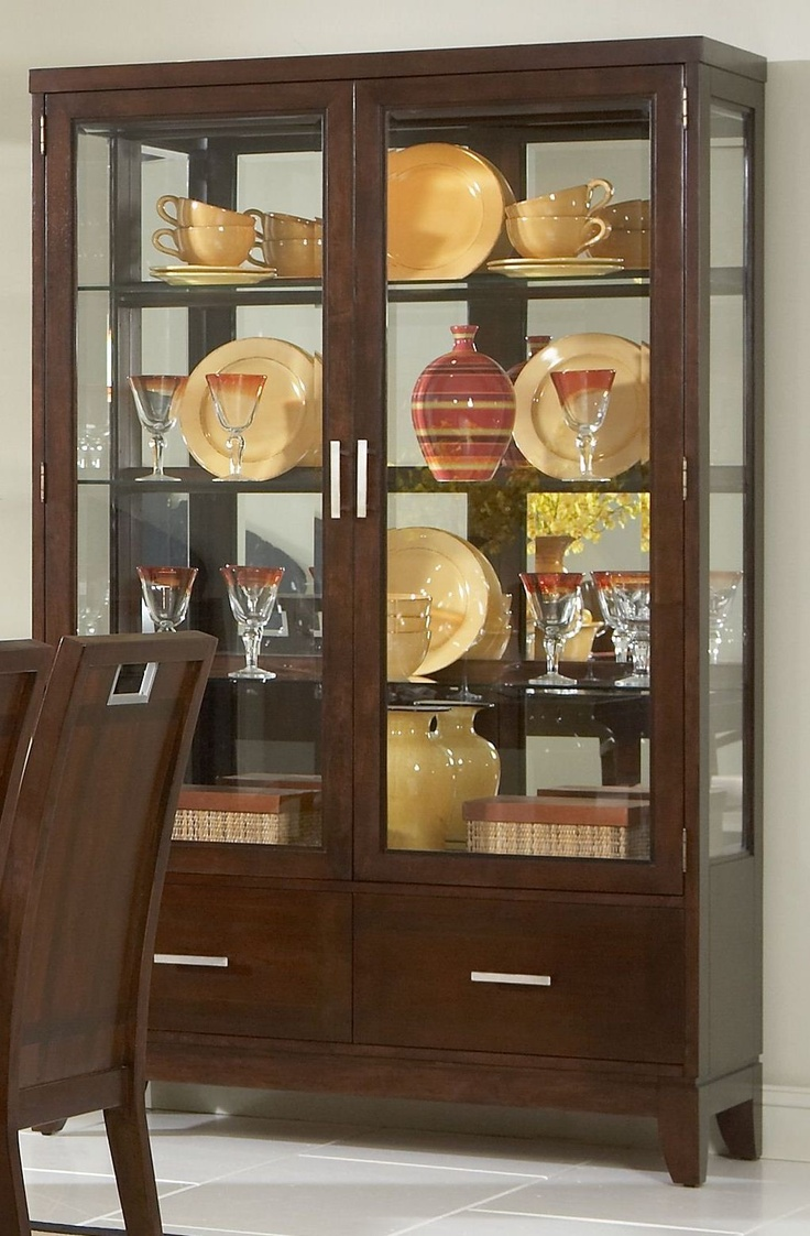 Homelegance Keller Buffet And Hutch In Dark Brown Cherry