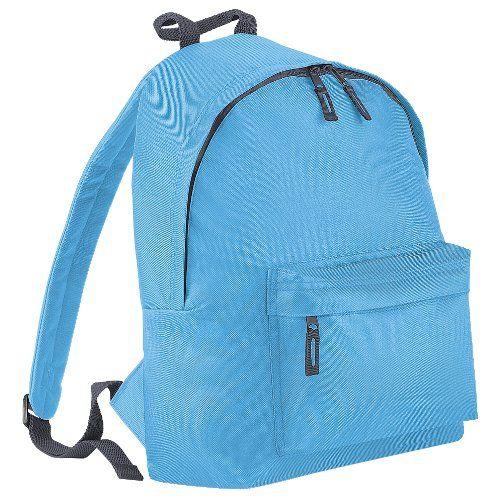 Bagbase Junior Fashion Backpack / Rucksack (14 Liters) (One Size) (Surf Blue/ Graphite Grey)