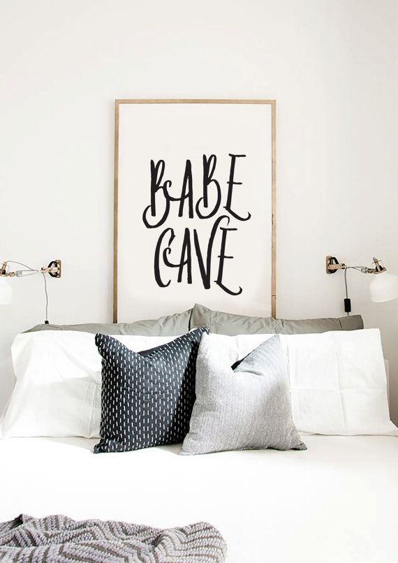 Babe Cave Home and living Typography Wall Art Modern Decor Babe Poster Gifts for her Fashion Quote Wall Decor Own best friend design