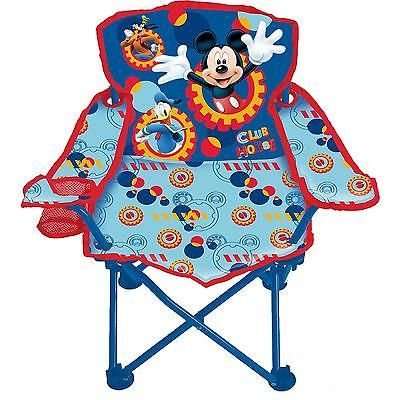 Kids Folding Chair Mickey Mouse Chair Camping Children Toddler Foldable  Seat New