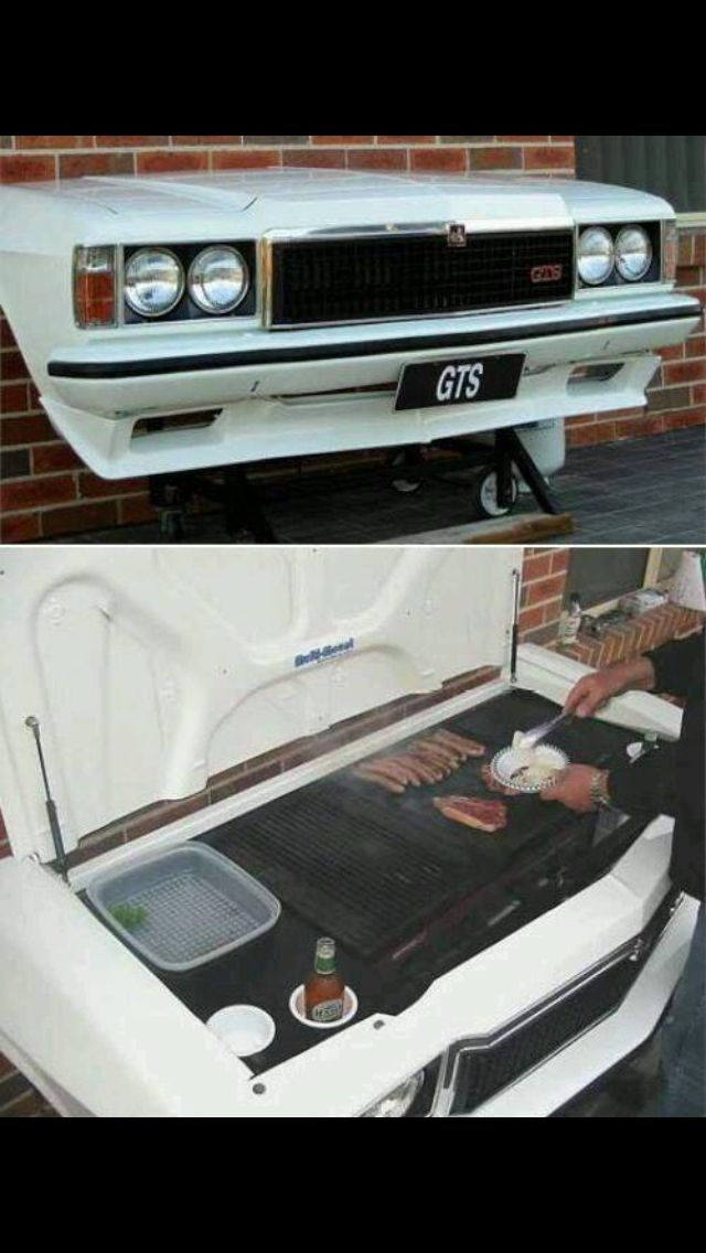 Car bonnet bbq