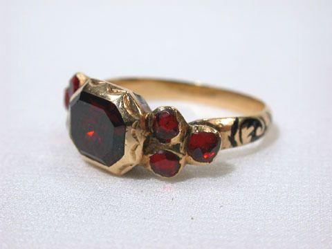 Late 17th Century Garnet Ring